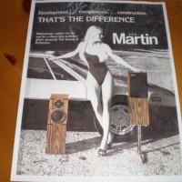 Ferrari 308 GT4 and Vintage Martin Speakers USA Brochure