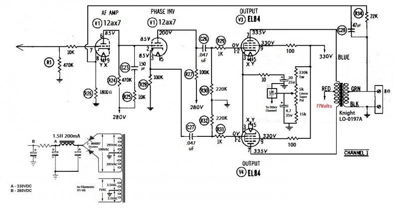 Help me pick an amp design: P-P EL84 with 12ax7 driver