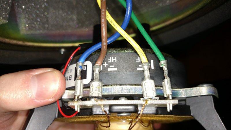 KEF B160 woofer and NT25 Tweeter wiring | Audiokarma Home Audio