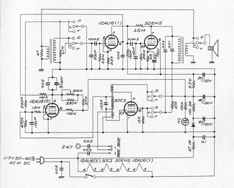 Lafayette PA-405 Tube Intercom Schematic | Audiokarma Home ... on